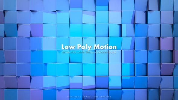 Cover Image for Low Poly Motion Blue 2