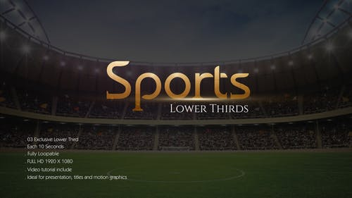 Sports Lower Third