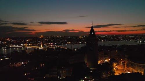 Galata Tower in Istanbul Turkey