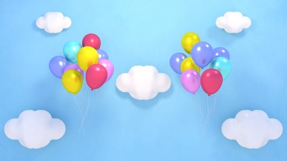 Thumbnail for Balloons in the Sky and Fireworks