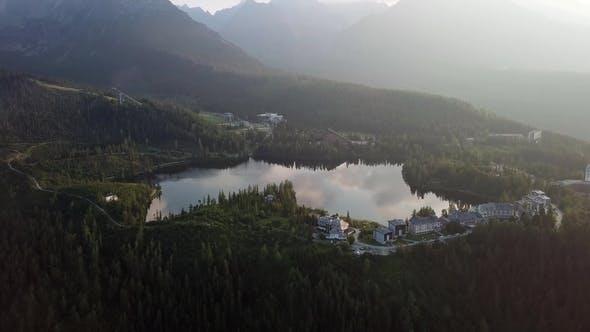 Thumbnail for Morning Flight Over Strbske Pleso, Slovakia