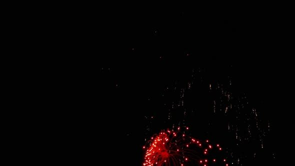 Thumbnail for Fireworks Flashing in the Night Holiday Sky