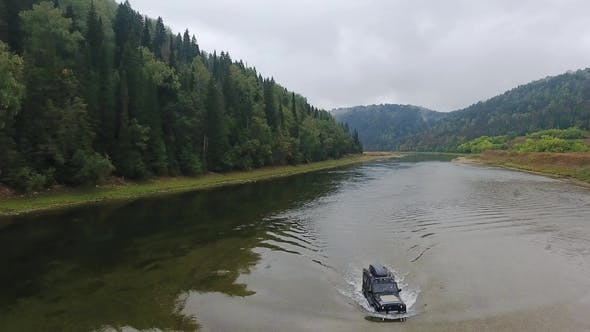 Jeep Rides the River