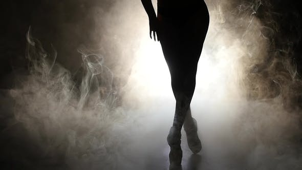 Thumbnail for Woman Is Dancing a Sexy Dance . Black Background. Silhouette