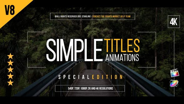 Thumbnail for Gold Simple Titles (Special Version) for FCPX