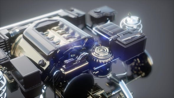 Thumbnail for Detailed Car Engine and Other Parts