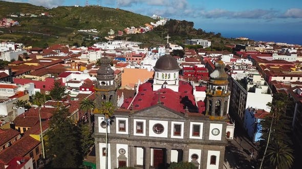Thumbnail for View From the Height on Cathedral and Townscape San Cristobal De La Laguna, Tenerife, Canary Islands