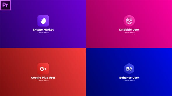 54 Logo Stings Video Templates Compatible with Adobe Premiere Pro
