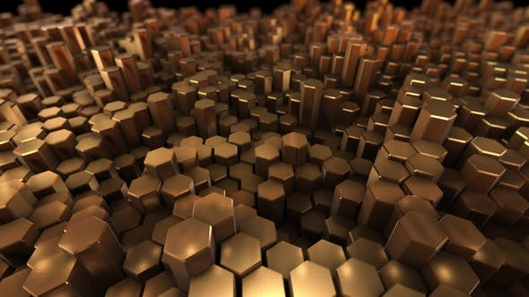 Thumbnail for Gold Many Hexagon with Geometry