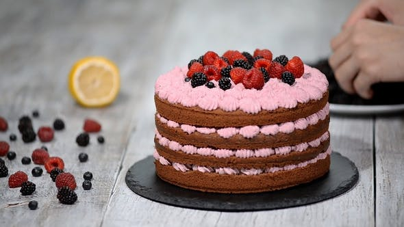 Thumbnail for Chef Decorate the Cake Wild Berries
