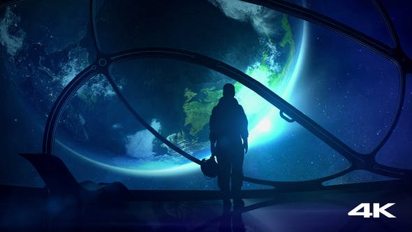 Thumbnail for The Astronaut Looks At The Earth From Space