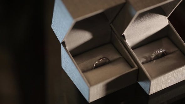 Thumbnail for Silver Wedding Rings in the White Box   Shoot Diamon Jewellery