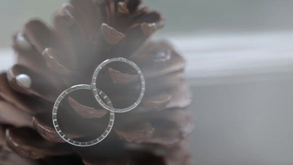 Thumbnail for Wedding Silver Rings on the Cone   Shoot Diamon Jewellery