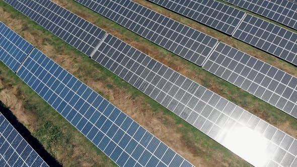 Aerial View on Solar Pannels