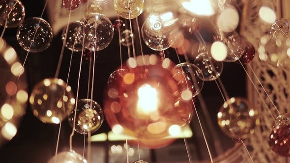Cover Image for Chandelier of Glass with Reflections