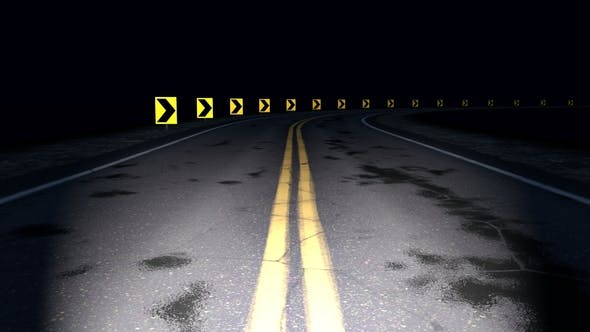 Cover Image for Night Curved Road Loop