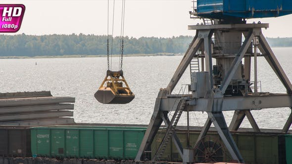 Loading Coal from Wagons to a Bulk Carrier
