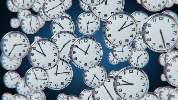 Abstract Clock Bg 02