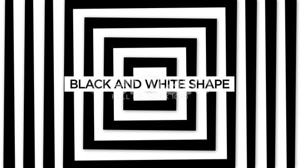 Thumbnail for Schwarz-Weiß-Form VJ Loops Hintergrund