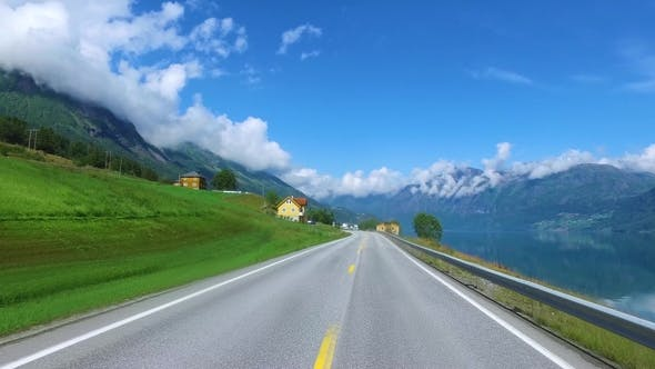 Thumbnail for Driving a Car on a Road in Norway