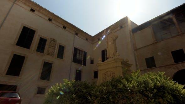 Thumbnail for Madrid Spain Santa Maria Almudena and the Statue of Pope John II