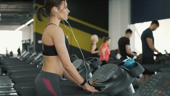 Thumbnail for Fit Body Girl Running in Gym