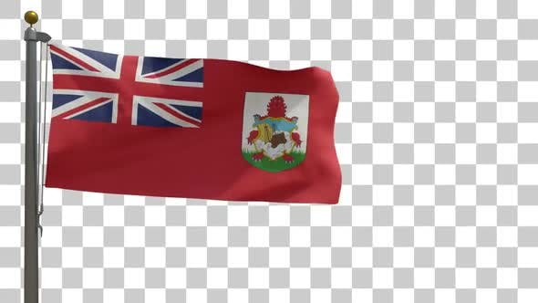 Thumbnail for Bermuda Flag on Flagpole with Alpha Channel