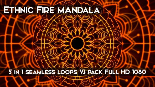 Thumbnail for Ethnic Fire Mandala VJ Loops
