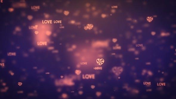 Thumbnail for Modern Moving Orange Heart Icons Background