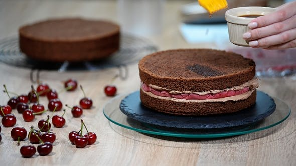 Thumbnail for Preparation of Chocolate Cake with Cherries