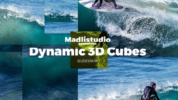 Thumbnail for Dynamic 3D Cubes Slideshow