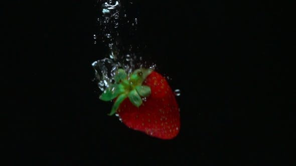 Thumbnail for Shooting of Strawberry Coming Up After Sinking