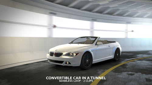 Convertible Car in a Tunnel