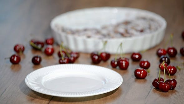 Thumbnail for Cherry Clafouti - Traditional French Sweet Fruit Dessert Clafoutis with Cherries