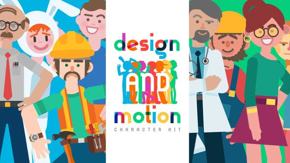 Thumbnail for Design and Motion Character Kit