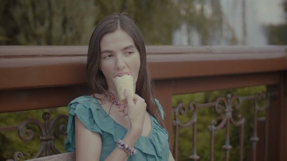 Thumbnail for Beautiful Woman Having Refreshing Ice Cream