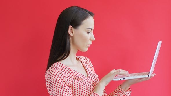 Thumbnail for Elegant Woman Using Laptop