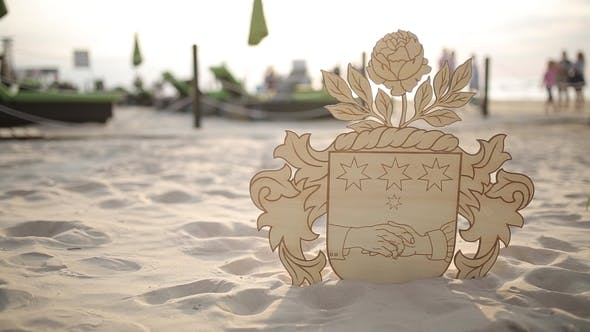 Cover Image for The Coat of Arms of Latvia From Plywood on the Beach Wedding Decorations for the Bride Bijouterie