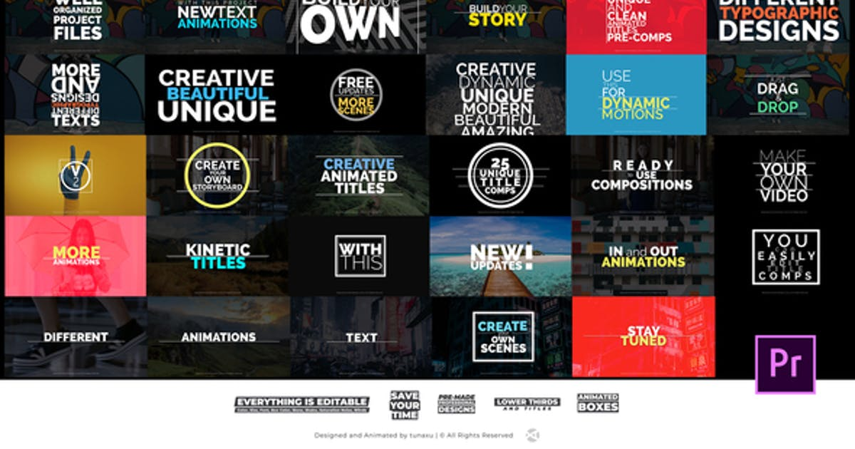 Download Title Animations For Premiere Pro by tunaxu