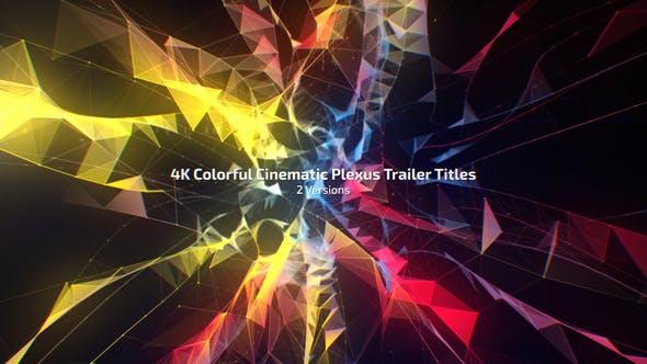 Títulos de tráiler de plexo Cinemática de colores 4K (2 versiones)