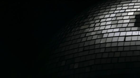 Thumbnail for Mirror Disco Ball Rotates Black Background
