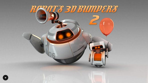 Thumbnail for Robots 3D logo bumpers II