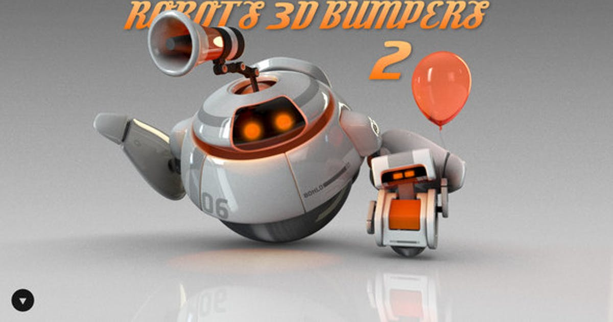 Download Robots 3D logo bumpers II by Vectorica