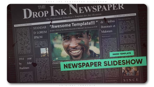 Thumbnail for Drop Ink Newspaper Slideshow