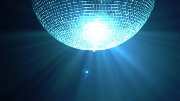 Thumbnail for Glittering Disco Ball on Smoke Black Background