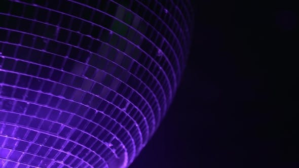 Thumbnail for Mirror Ball Reflects Colorful Light