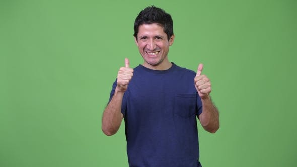 Thumbnail for Excited Hispanic Man Giving Two Thumbs Up