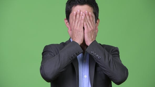 Thumbnail for Hispanic Businessman Covering Eyes As Three Wise Monkeys Concept
