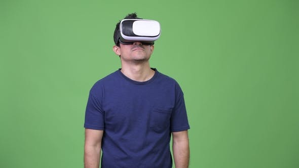 Thumbnail for Hispanic Man Using Virtual Reality Headset