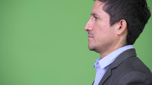 Thumbnail for Headshot Profile View of Hispanic Businessman